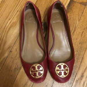Red Tory Burch heels